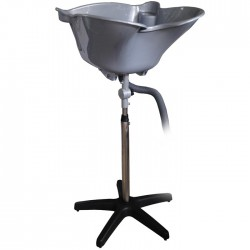 Kadeřnická mycí mísa přenosná BD-71 stříbrná