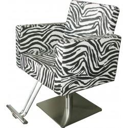 Kadeřnické křeslo Karo zebra