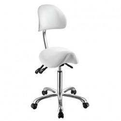 Židle kosmetická SELLA bílá