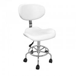 Židle kosmetická ZD-2106 bílá