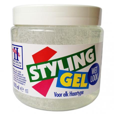 how to gel hair wet look
